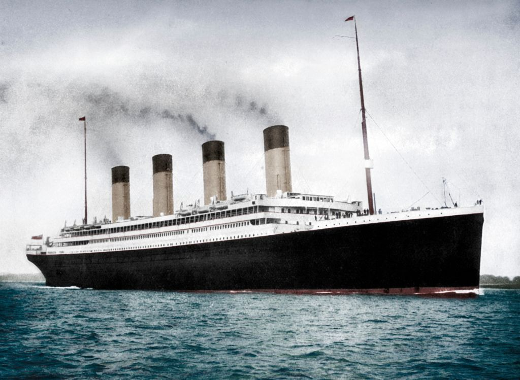 """RMS """"Olympic,"""" White Star Line ocean liner, circa 1911-1912. 