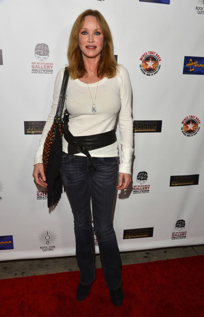 """Tanya Roberts at """"108 Rock Star Guitars"""" book release at Mr Musichead Gallery on October 17, 2013 