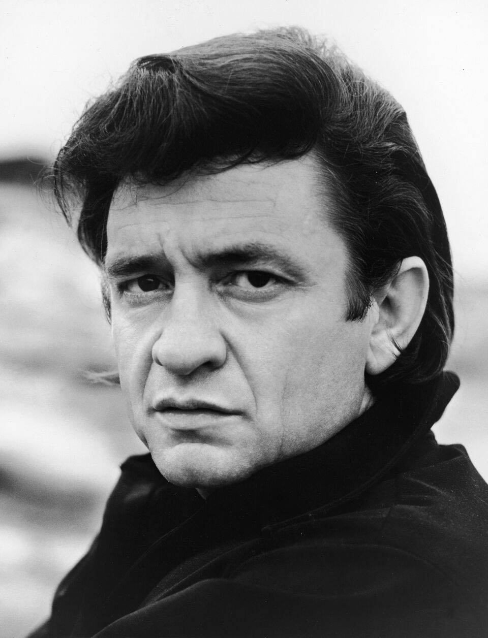 Headshot portrait of Johnny Cash for his television show. | Source: Getty Images