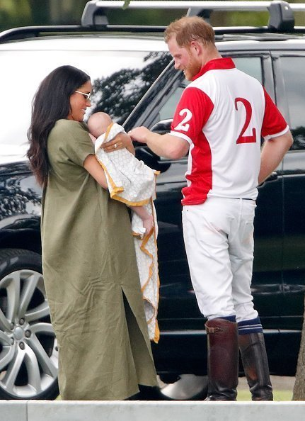 Prince Harry, Meghan, and Archie at Billingbear Polo Club on July 10, 2019 in Wokingham, England. | Photo: Getty Images