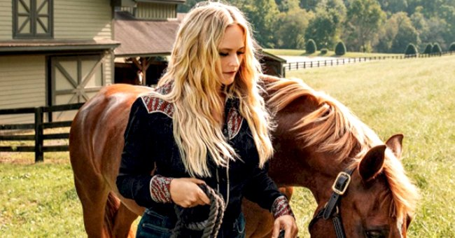 Check Out Miranda Lambert's Cowgirl Outfit as She Walks Her Horse near a Farm Style House