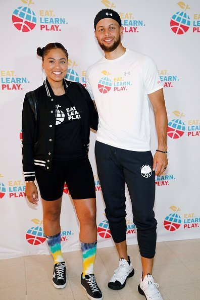 Ayesha Curry and Stephen Curry at the launch of Eat. Learn. Play. Foundation in Oakland, California.| Photo: Getty Images.