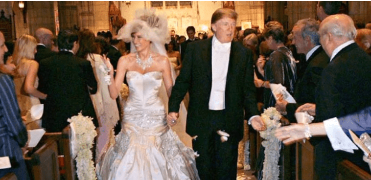 Donald Trump and Melania on their wedding day.| Photo: YouTube/NoCopyrightMusic.