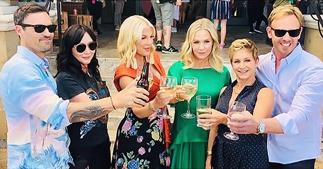 See How Tori Spelling and Jennie Garth Celebrated 30 Years since the Premiere of '90210'