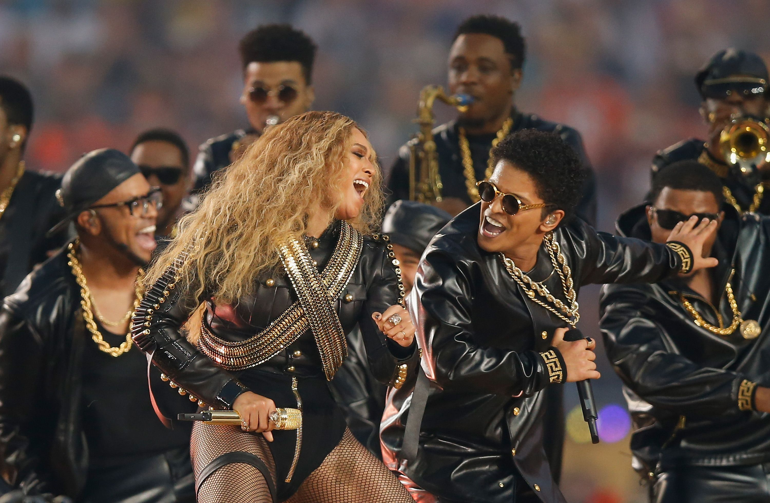 Beyonce at the Pepsi Super Bowl 50 Halftime Show in February 2016 in Santa Clara, California | Source: Getty Images