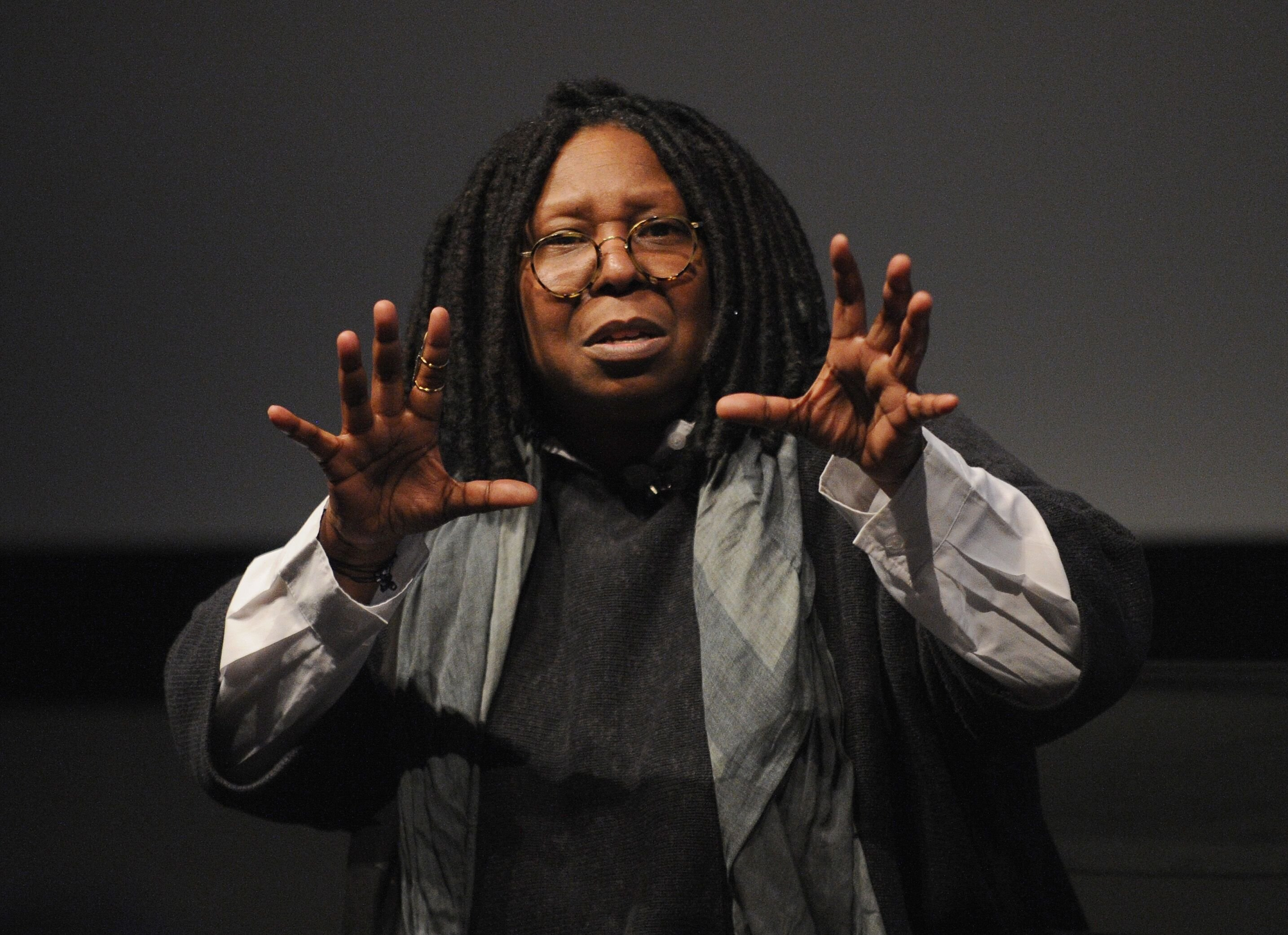 "Whoopi Goldberg speaks during ""I Got Somethin' To Tell You"" screening 