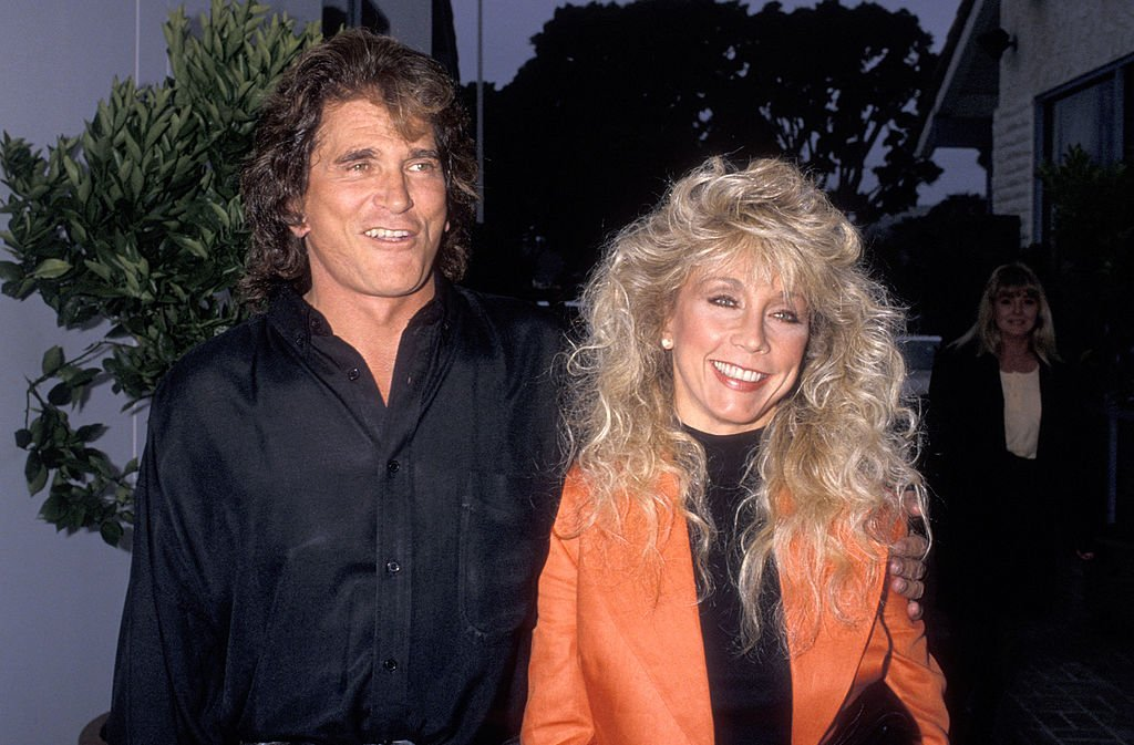 Actor Michael Landon and wife Cindy Landon attend the La Scala Restaurant Grand Opening Celebration on June 2, 1989. | Photo: Getty Images