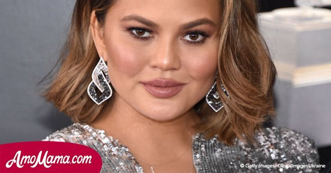 Pregnant Chrissy Teigen shares cute photo of herself with a new hairstyle