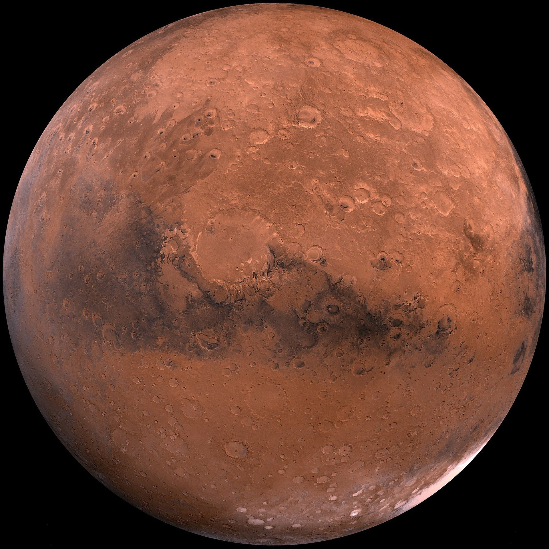 A close-up photograph of the planet Mars | Photo:Pixabay/WikiImages