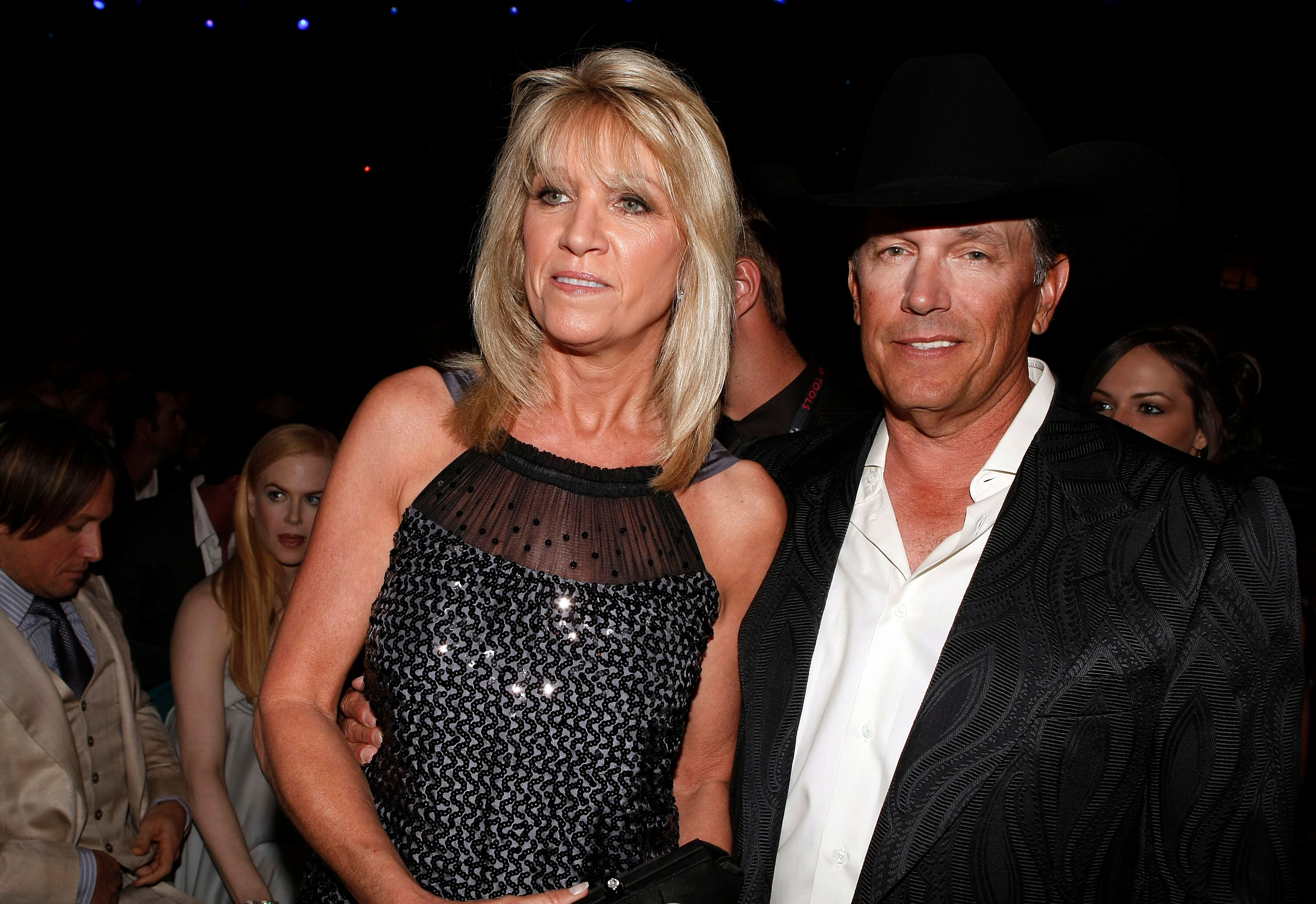 George Strait and Norma Strait attend the 43rd Academy of Country Music Awards.   Source: Getty Images