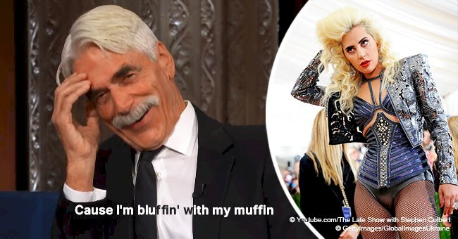 Sam Elliott bewitched the audience by copying Lady Gaga's lyrics
