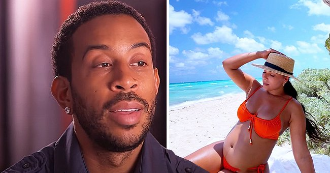 Ludacris' Wife Eudoxie Puts Her Baby Bump on Display in an Orange Swimsuit in Beach Photos
