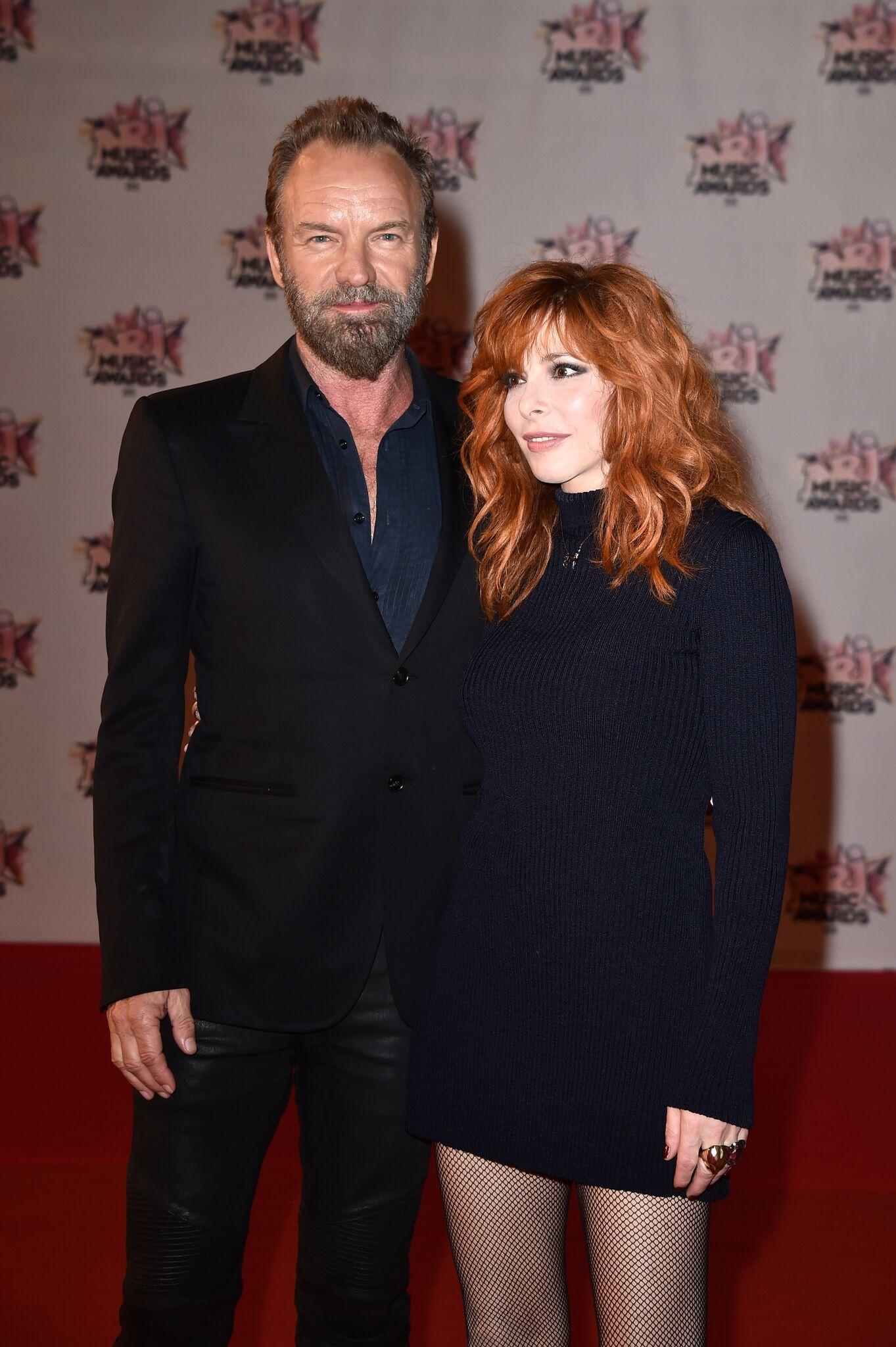 Sting et Mylène Farmer aux NRJ Awards. l Source: Getty Images