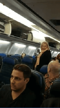 """Why don't you try and sit between those two pigs?"" the woman says to another passenger. 