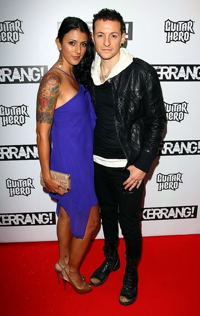 Chester Bennington and his wife Talinda Bennington attends The Kerrang Awards 2009 held at The Brewery on August 3, 2009 in London, England | Photo: Getty Images