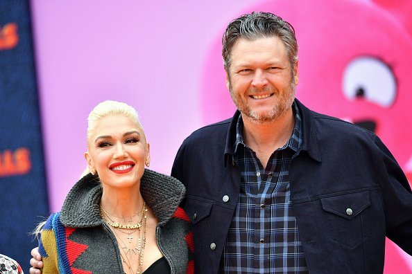 """Gwen Stefani and Blake Shelton attend STX Films World Premiere of """"UglyDolls"""" at Regal Cinemas L.A. Live on April 27, 2019, in Los Angeles, California. 