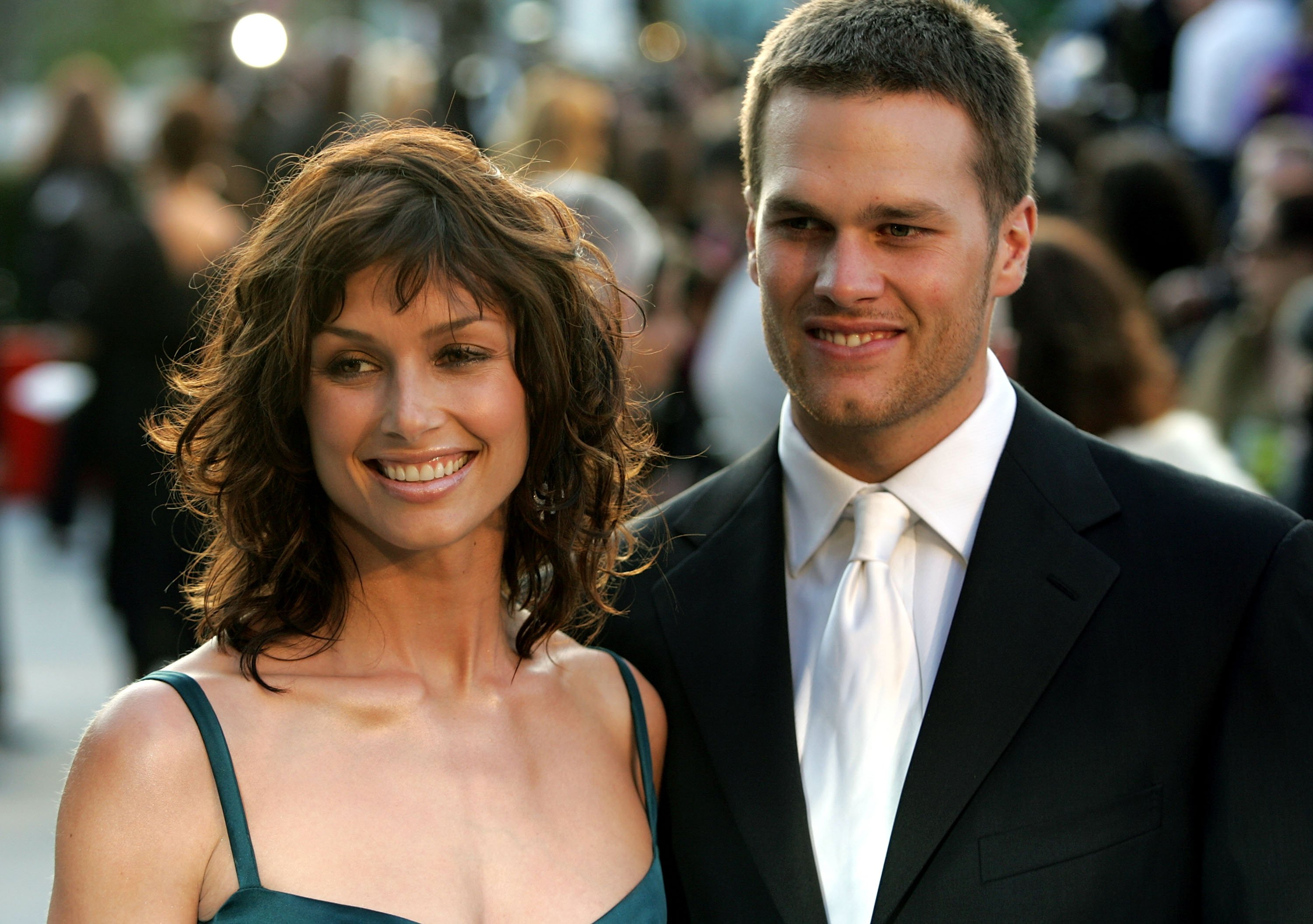 Bridget Moynahan and Tom Brady arrive at the Vanity Fair Oscar Party in West Hollywood, California on February 27, 2005 | Photo: Getty Images