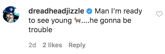 A fan commented on a photo of Rakeem Christmas playing with his son in an inflatable pool | Source: Instagram.com/rakeemchristmas