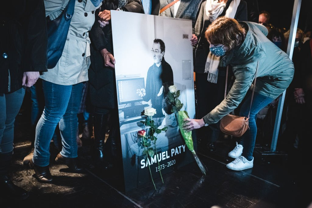 Hommage à Samuel Paty. | Photo : Getty Images