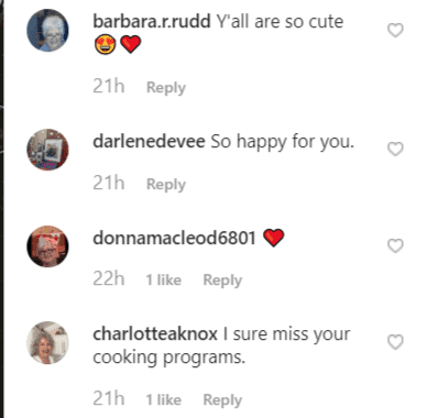 More fan comments on Paula Deen's post | Instagram: @pauladeen_official