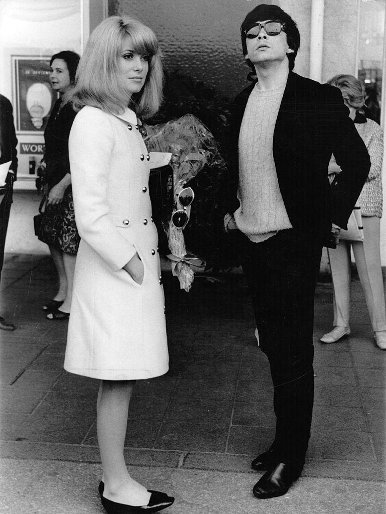 Catherine Deneuve avec son mari, le photographe britannique David Bailey au Festival de Cannes. Photo : Getty Images