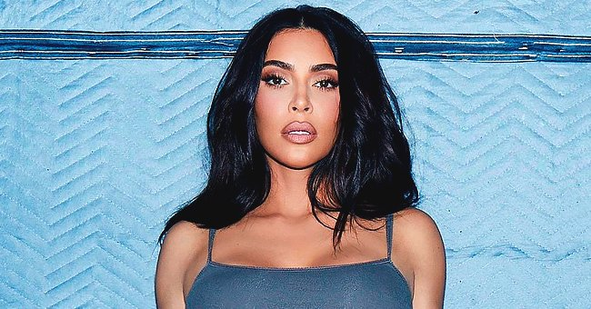 Kim Kardashian Flashes Her Curves in Tight Grey Underwear for Her SKIMS Collection (Photo)