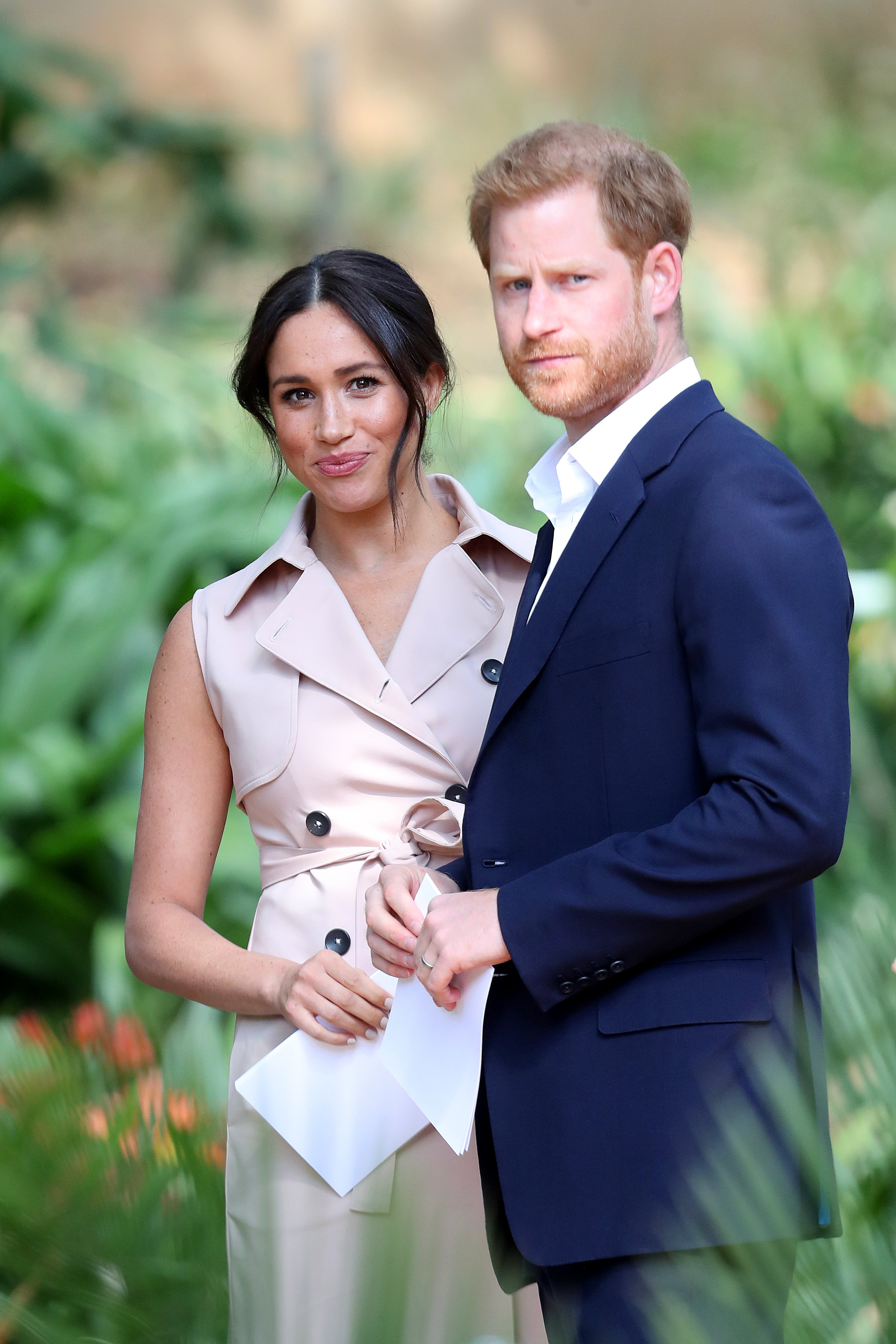 Prince Harry and Meghan Markle on October 02, 2019, in Johannesburg, South Africa.  Source: Getty Images.
