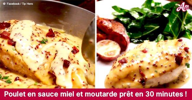 L'incroyable recette pour faire du poulet en sauce miel et moutarde en 30 minutes