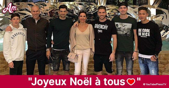 Zinedine Zidane: Sa femme au look chic et tous ses fils réunis pour la veille de Noël en famille