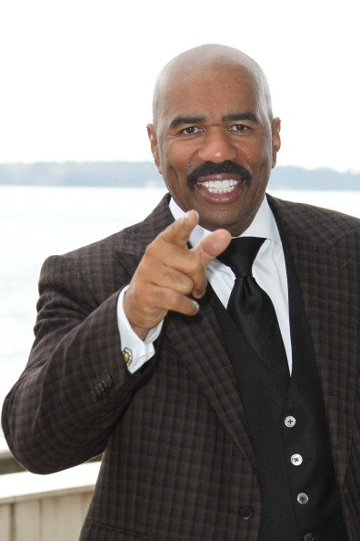 """Steve Harvey at a photocell for the """"Steve Harvey Show"""" in 2013. 