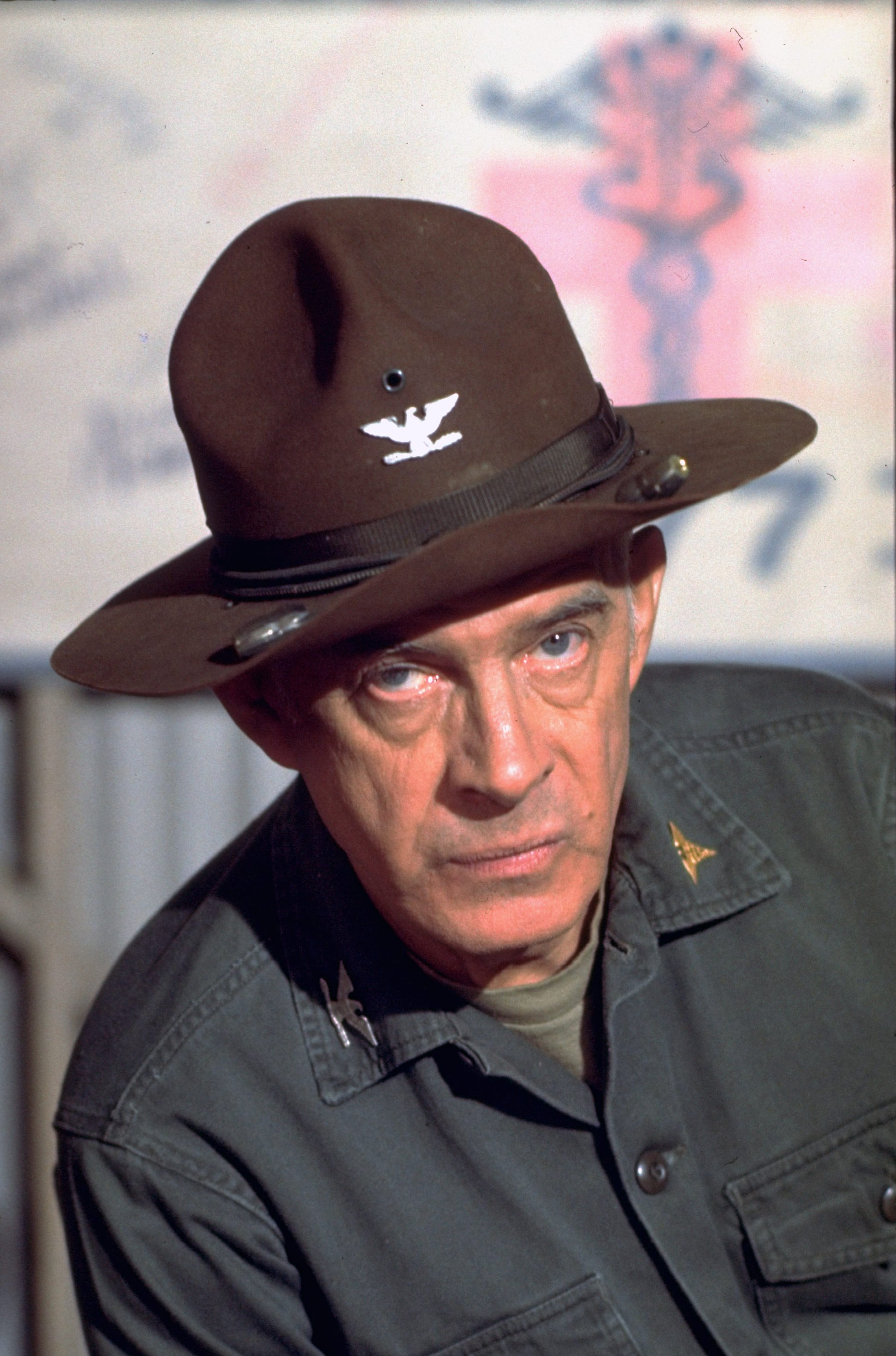 "Harry Morgan as Colonel Sherman Potter on the television show ""M*A*S*H"" during the late 1970s. 