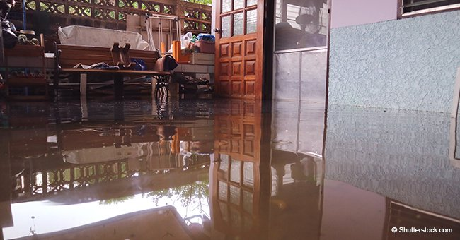 Woman Woke up to Find That a River Had Flooded the Entire First Floor of Her House