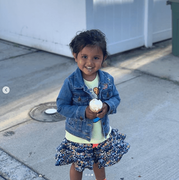 Haley Joy enjoying ice cream. I Image: Instagram/ hodakotb