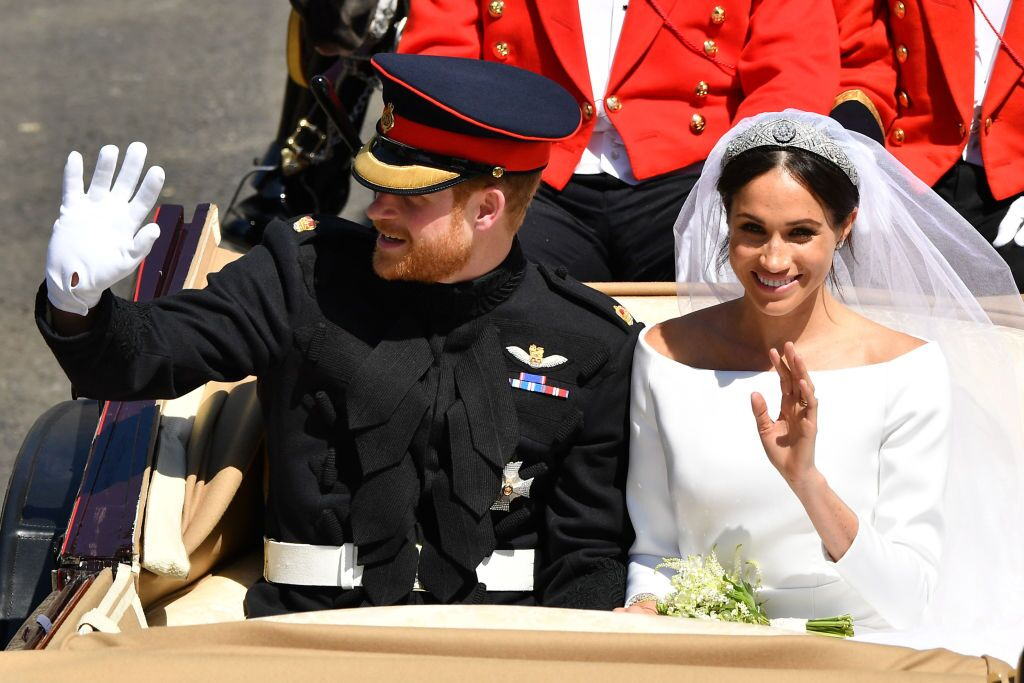 Prince Harry and Meghan Markle on their wedding day/ Source: Getty Images