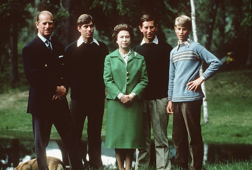 Prince Philip, Prince Andrew, Queen Elizabeth II, Prince Charles, and Prince Edward | Photo: Getty Images