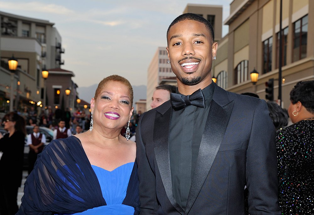 Michael B. Jordan and mother Donna Jordan attend the 45th NAACP Image Awards presented by TV One at Pasadena Civic Auditorium on February 22, 2014 in Pasadena, California. I Photo: Getty Images