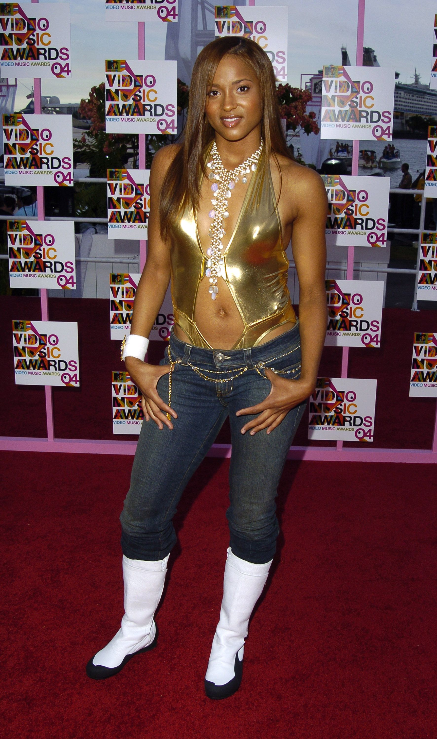 Singer Ciara attending the 2004 MTV Video Music Awards in Florida.   Photo: Getty Images