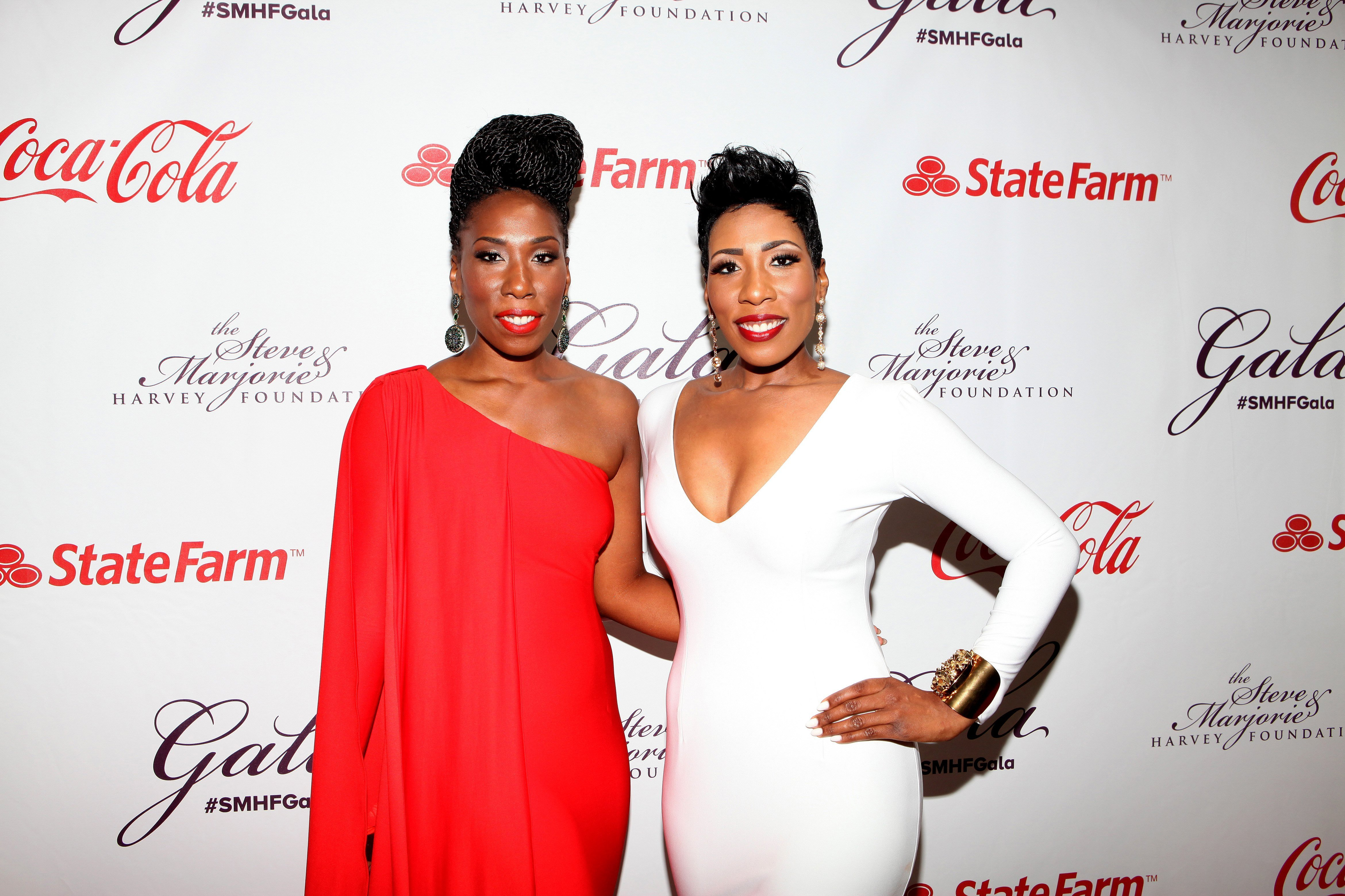 Brandi and Karli Harvey attend the 2014 Steve and Marjorie Harvey Foundation Gala presented by Coca-Cola at the Hilton Chicago on May 3, 2014 in Chicago, Illinois | Photo: Getty Images