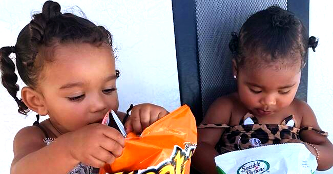 Chicago West & True Thompson Are Too Cute as They Enjoy Snacks in Bahamas with Their Moms