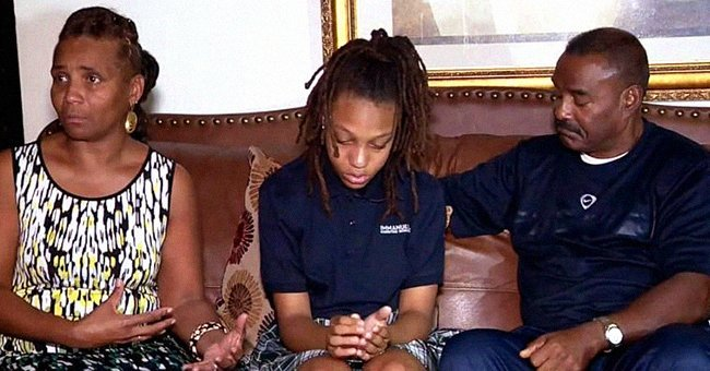 Amari Allen and her grandparents during a TV interview | Source: YouTube/CBS 17