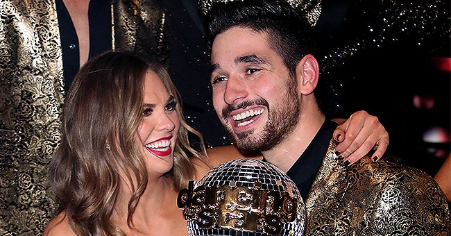 Hannah Brown and Partner Alan Bersten Win the Mirrorball Trophy during the DWTS Finale