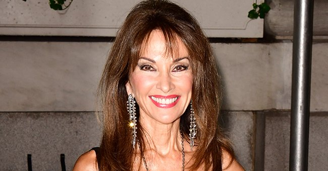 Susan Lucci, 73, Shows Her Shoulders Wearing a Bohemian Red Top with Matching Accessories