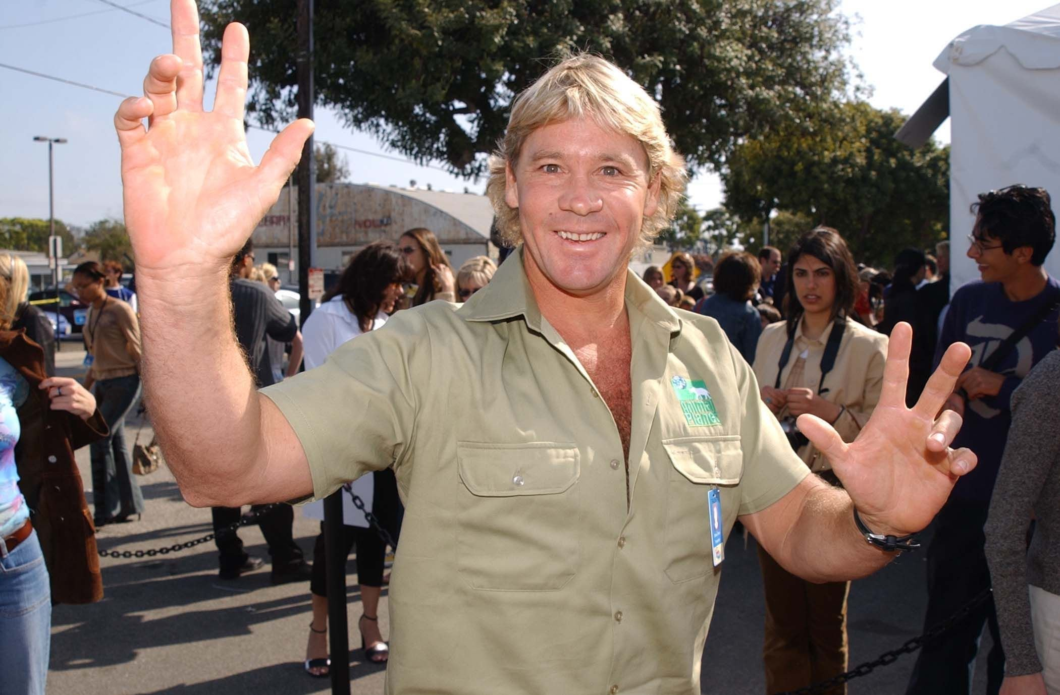 Steve Irwin at Kid's Choice Awards Arrivals in Santa Monica on April 20, 2002 | Photo: Getty Images