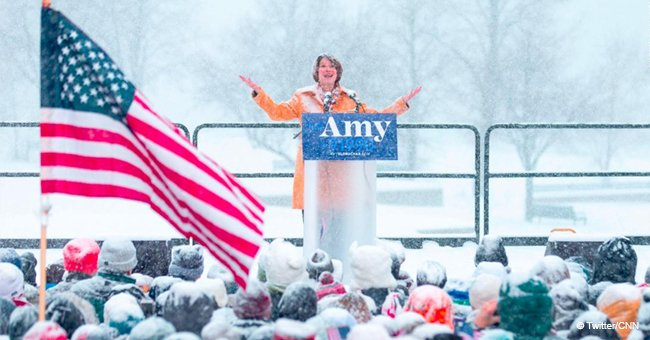 Trump mocks Klobuchar's entry for 2020, but she claps back with a blizzard joke about his hair