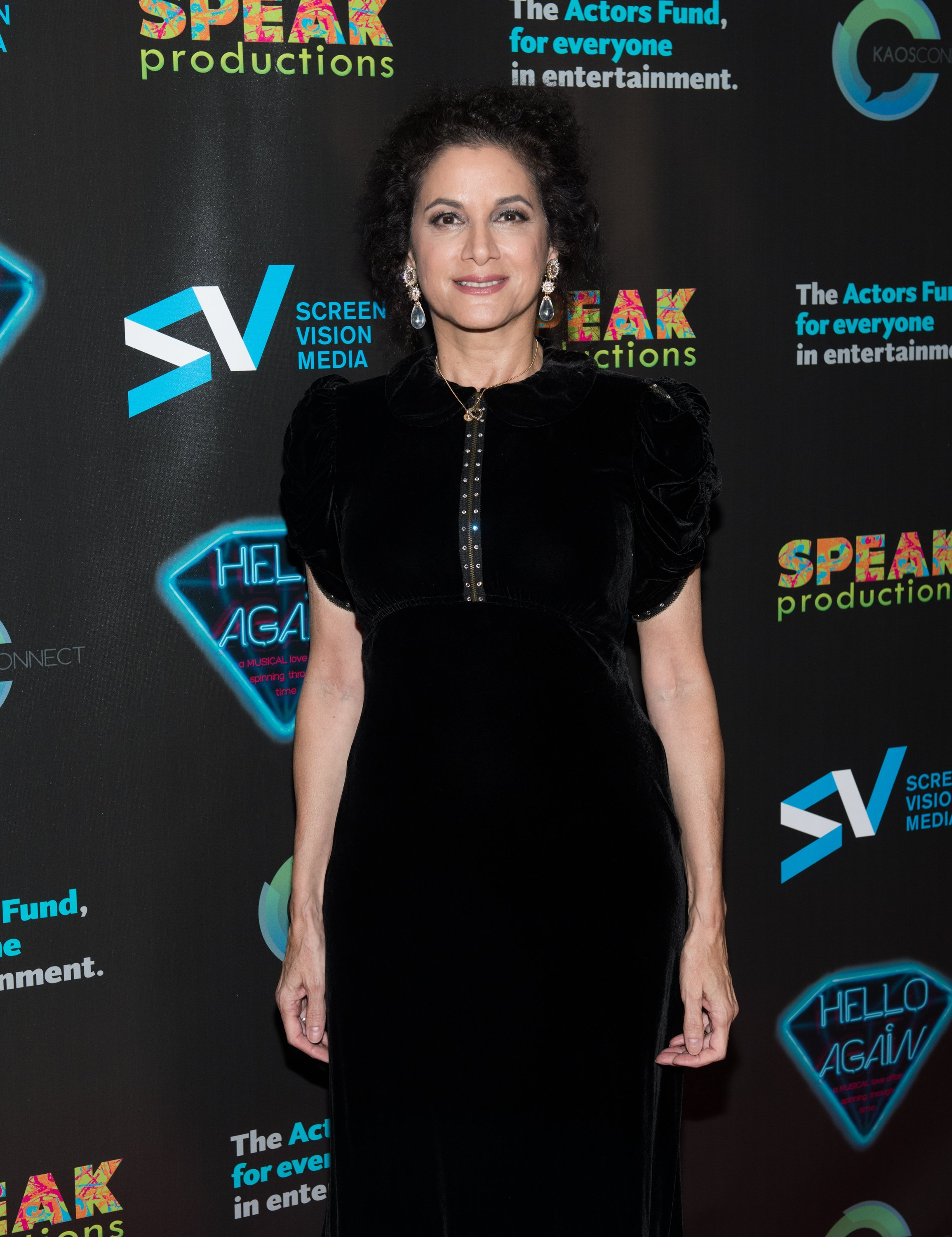 """Saundra Santiago attends the """"Hello Again"""" New York premiere at Cinepolis Chelsea on November 6, 2017 in New York City.  