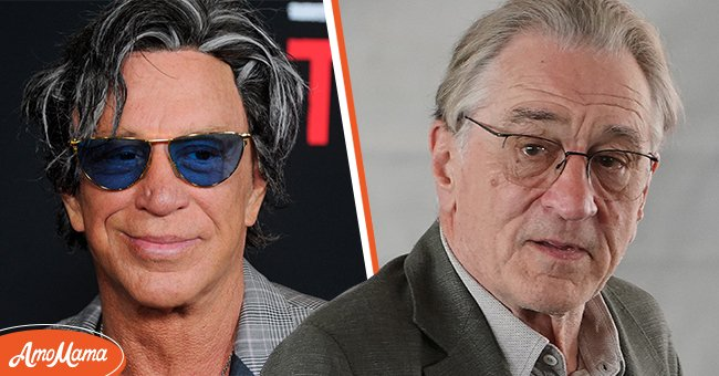 The feuding actors Mickey Rourke and Robert De Niro | Source: Getty Images