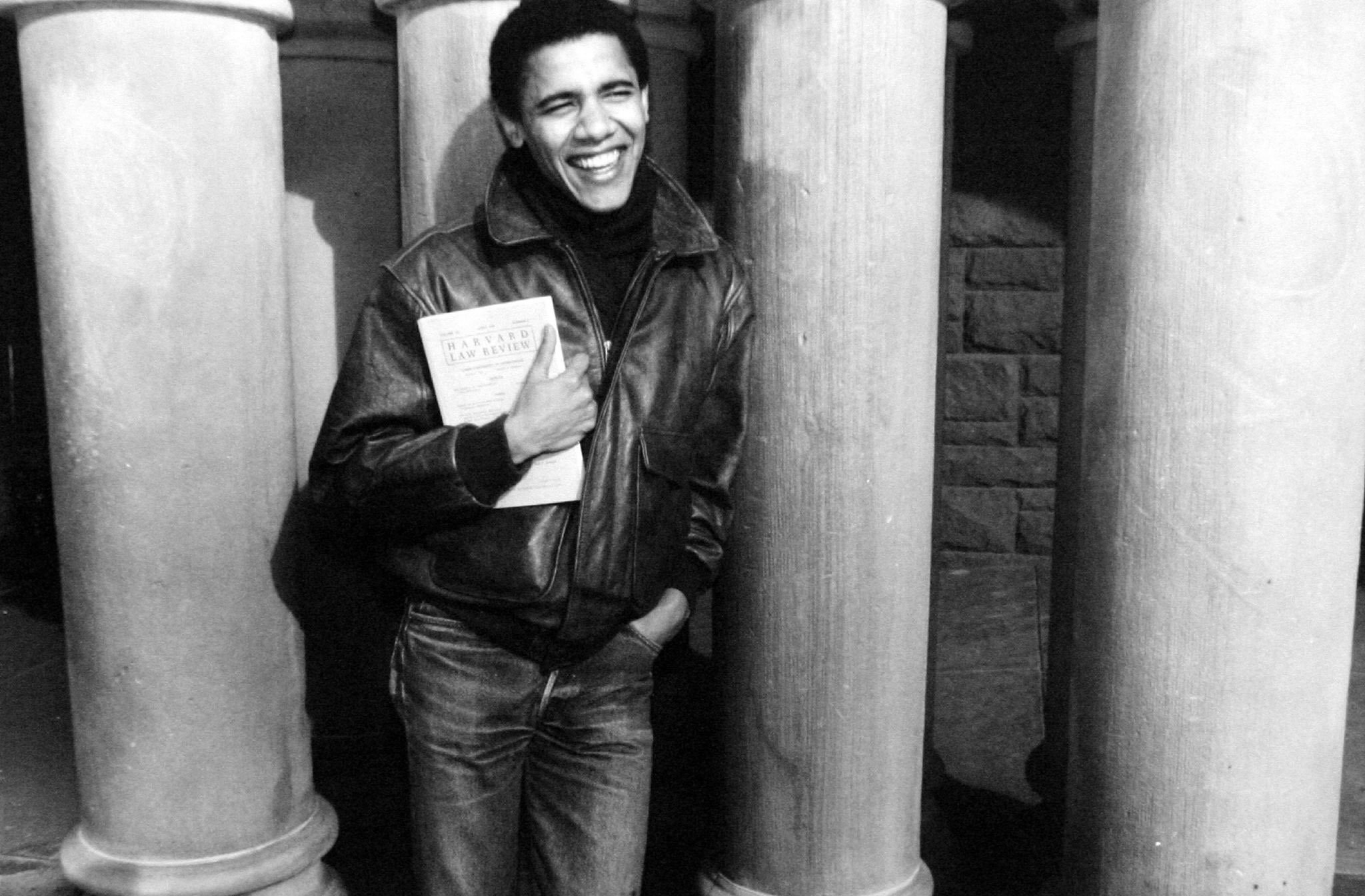 Barack Obama as student at Harvard university, c. 1992 l Source: Getty Images