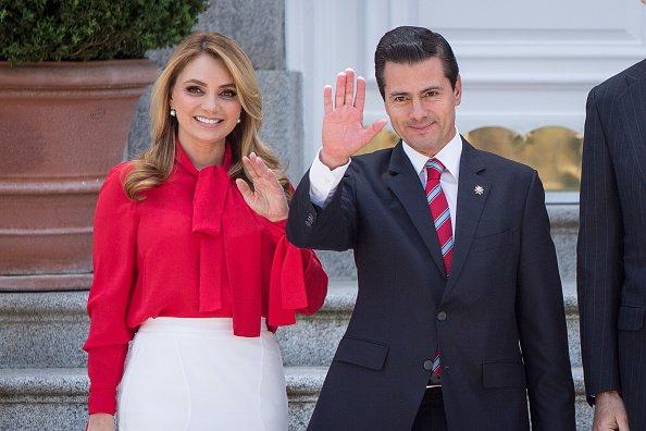 Ex Presidente de México Enrique Peña Nieto y la ex Primera Dama Angélica Rivera. Fuente: Getty Images