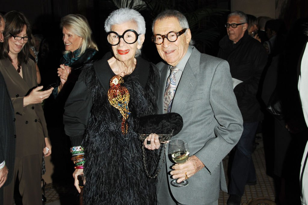"""Iris Apfel and Carl Apfel attend LIGHTHOUSE INTERNATIONAL """"A Posh Affair"""" Honoring Carolina Herrera & Michael Bruno at The Oak Room at the Plaza Hotel on May 11, 2010. 