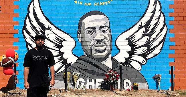 Street Artist Honors George Floyd with Colorful Mural in Houston –See the Beautiful Artwork